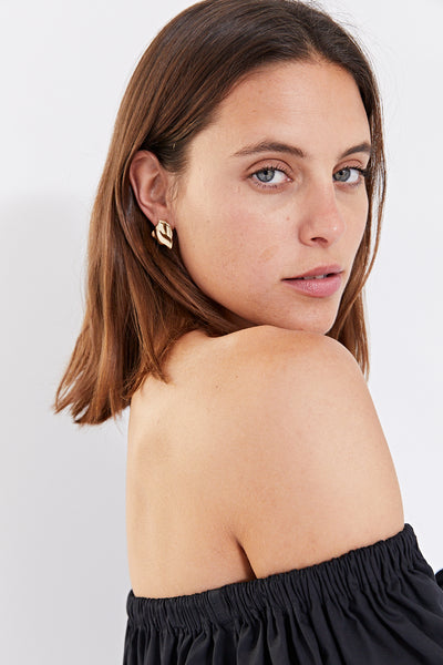 ROBBIE MINI CRUSH EARRING | GOLD