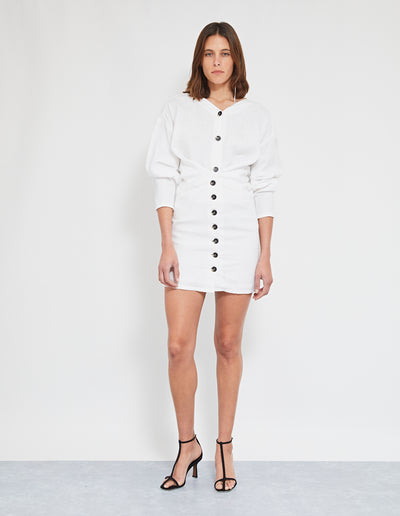 NEMO LINEN DRESS | WHITE