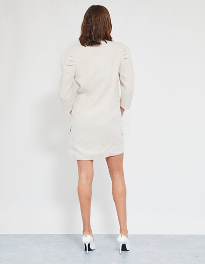 MORILLO BLAZER DRESS | NATURAL