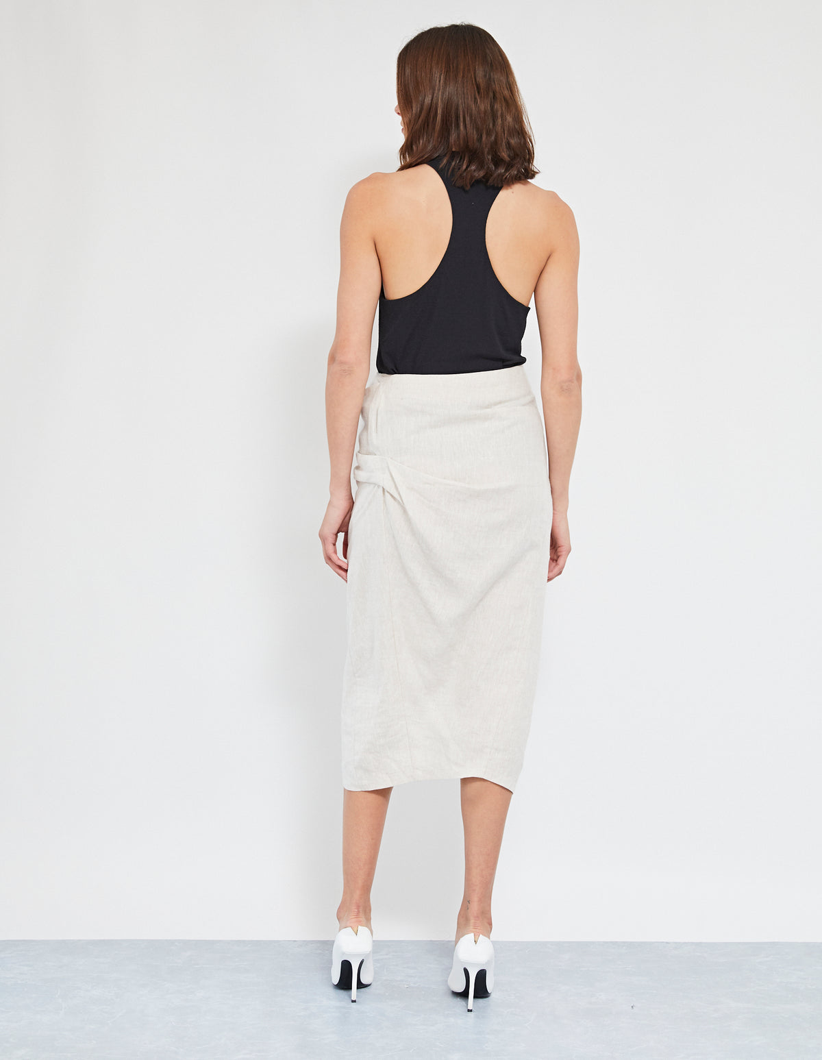 MORILLO TWIST SKIRT | NATURAL