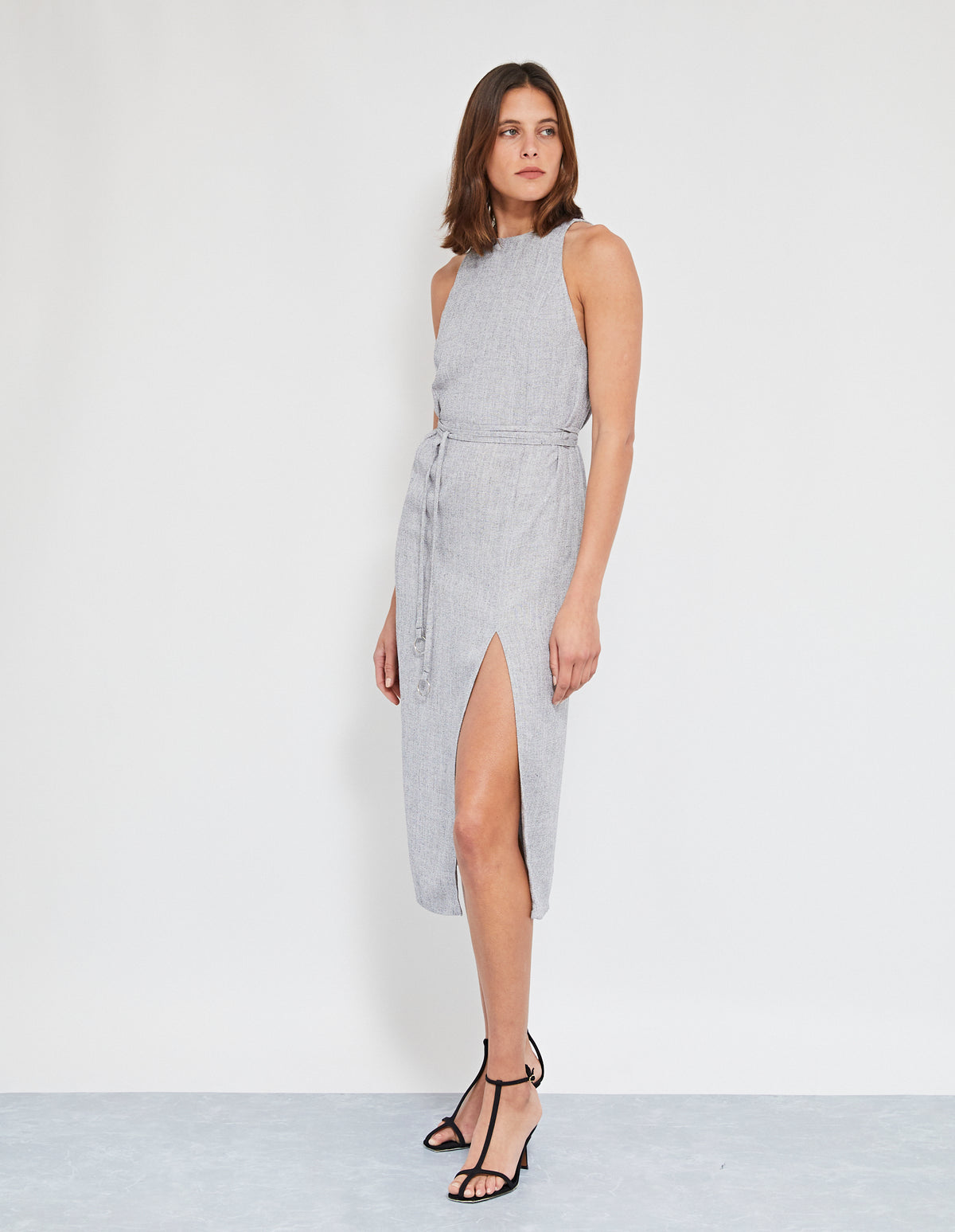 HAUSMANN WRAP DRESS | GREY MARLE