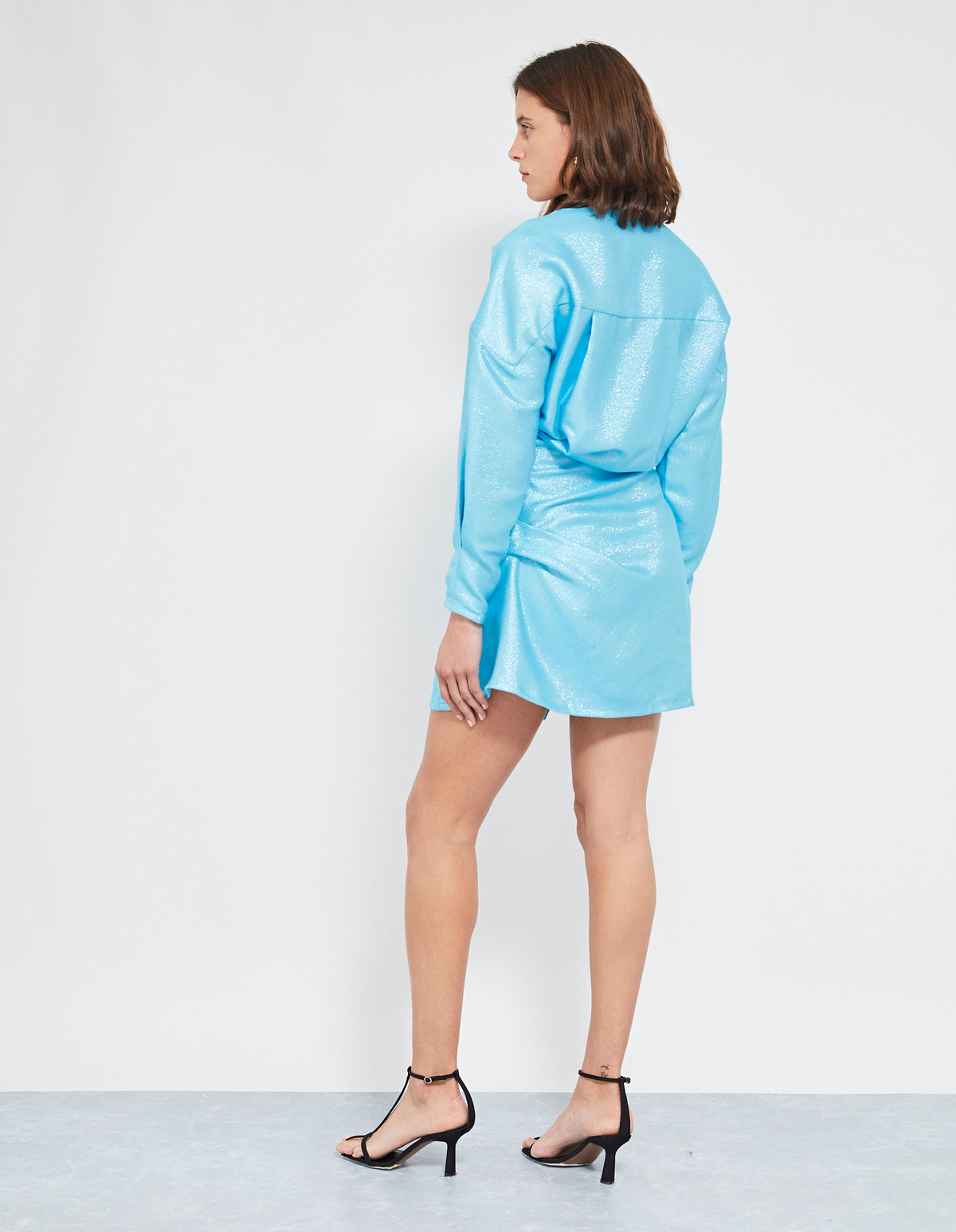 ATOMIC TWIST DRESS | ICE BLUE