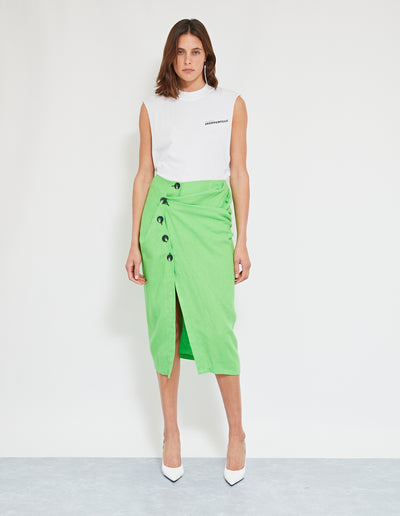 MORILLO TWIST SKIRT | LIME