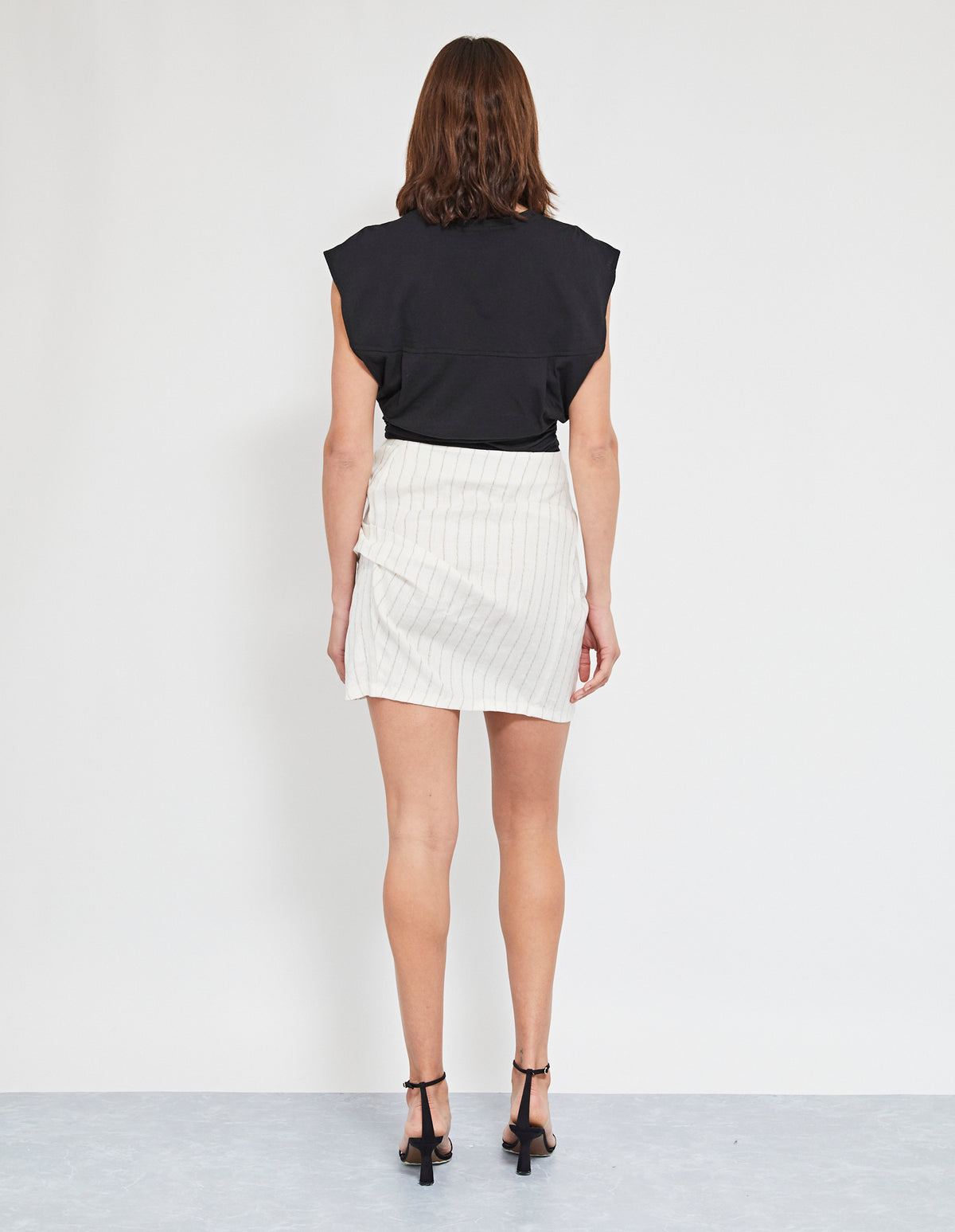 ELVIS TWIST SKIRT | OFF WHITE
