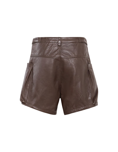 MATTEO LEATHER SHORT | CHOCOLATE