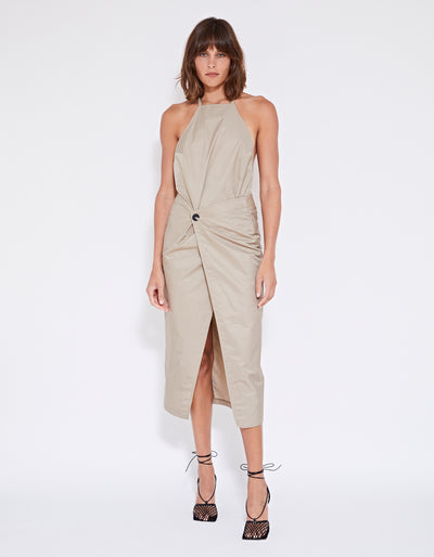 BALFOUR DRESS | CAMEL