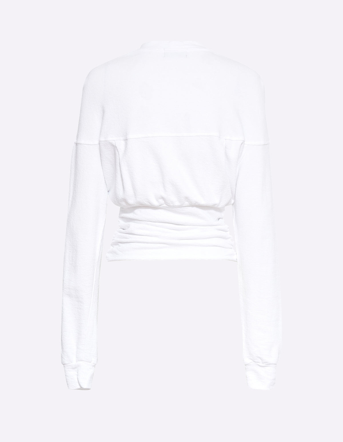 DELTA ROUCHED SWEAT | WHITE