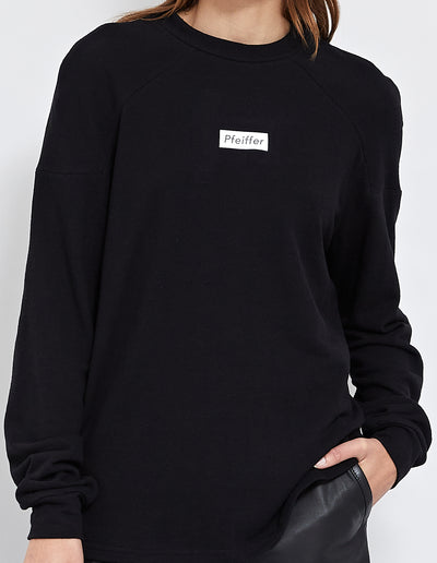PFEIFFER LOGO SWEAT | BLACK