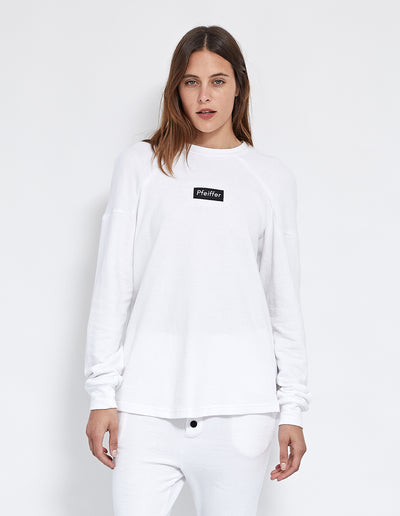 PFEIFFER LOGO SWEAT | WHITE