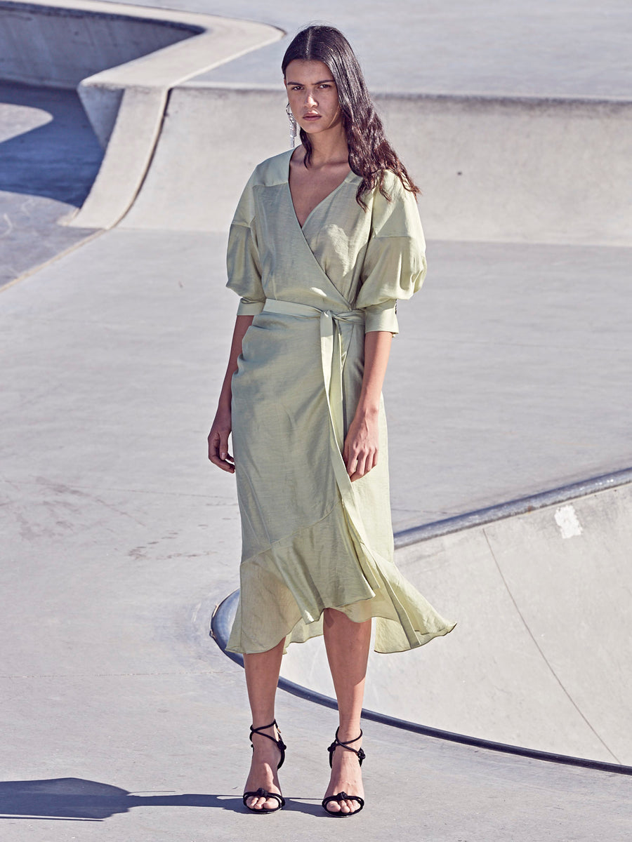 Alva Wrap Dress | Sage