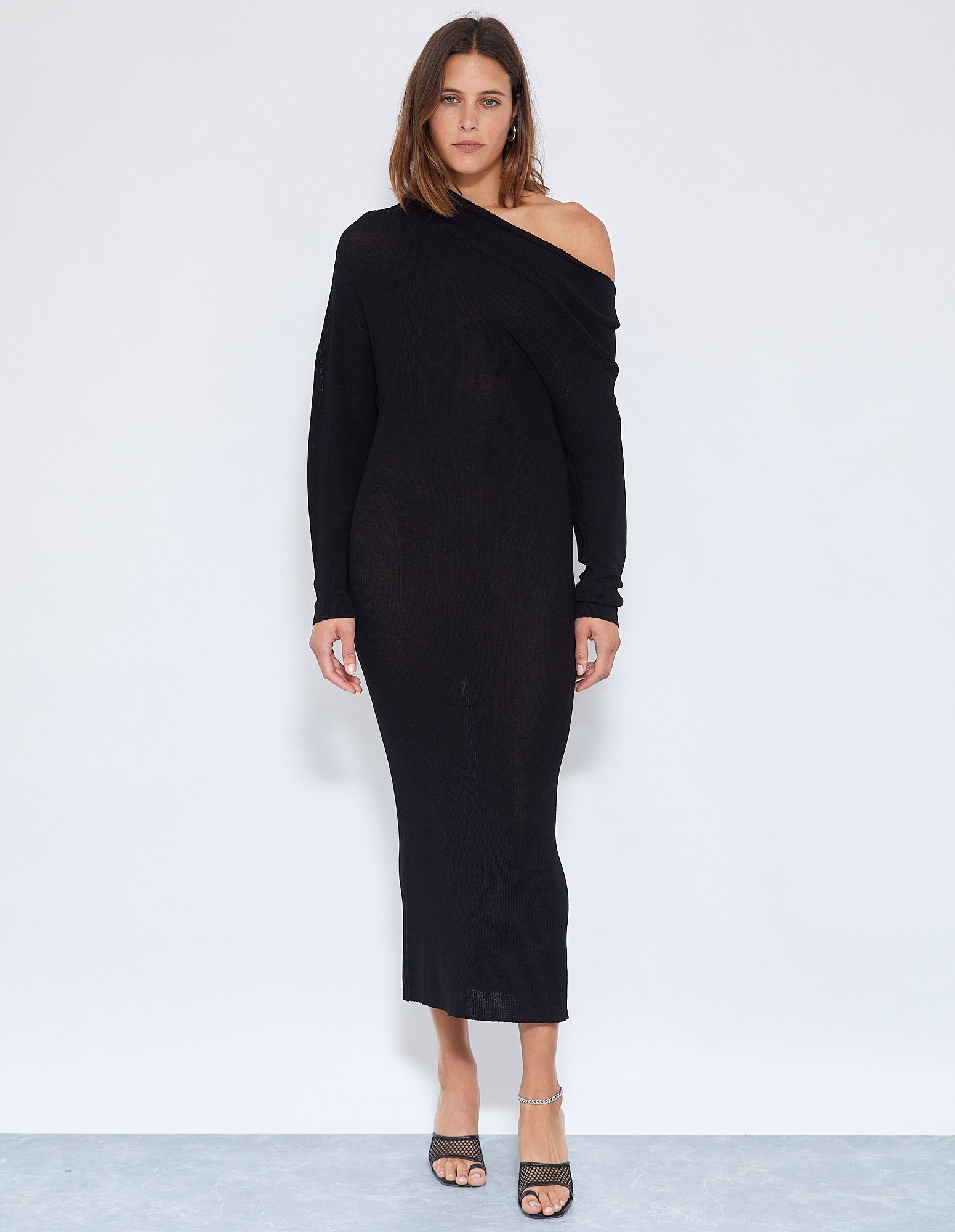 ROBBIE KNIT DRESS | BLACK