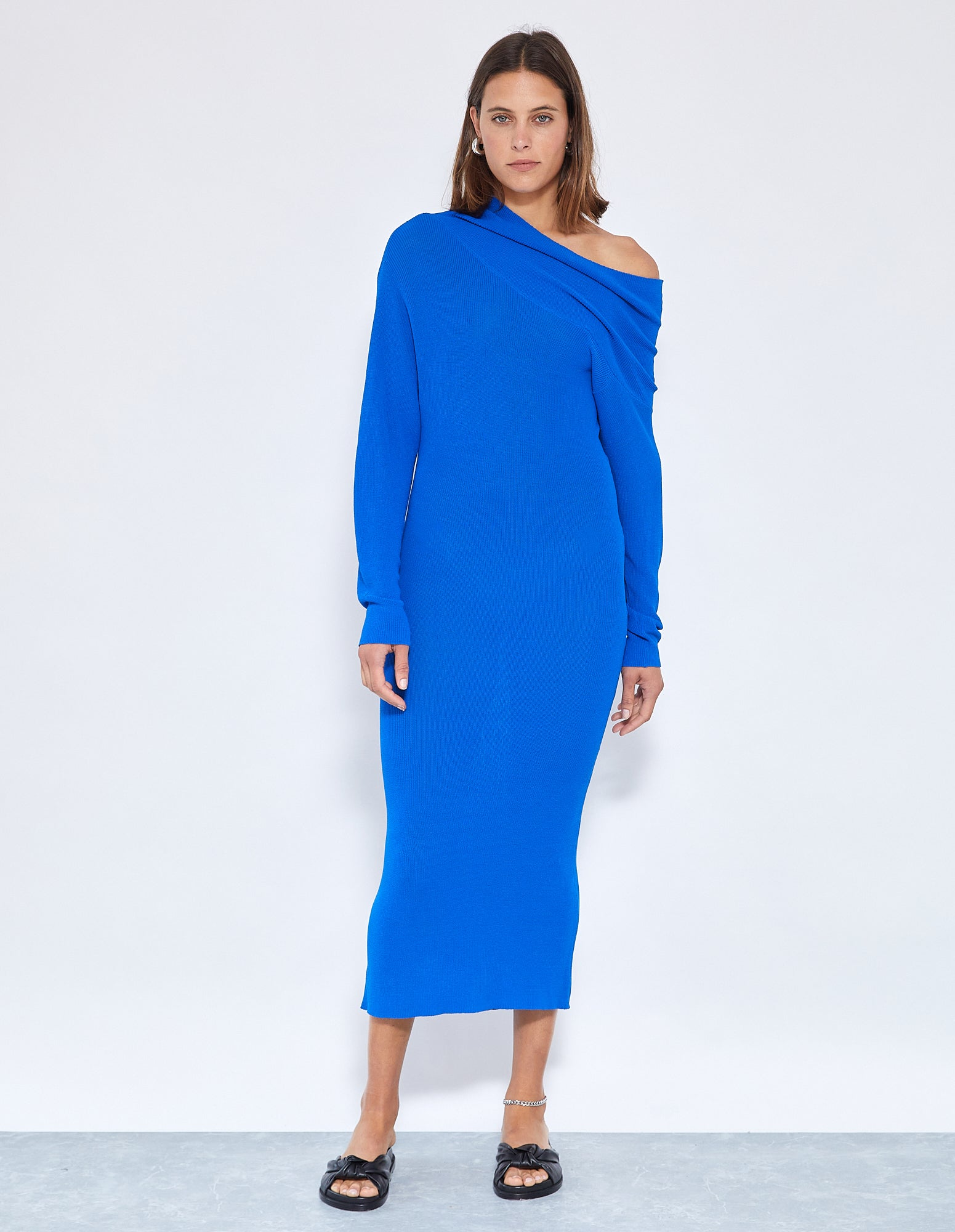 ROBBIE KNIT DRESS | BRIGHT BLUE