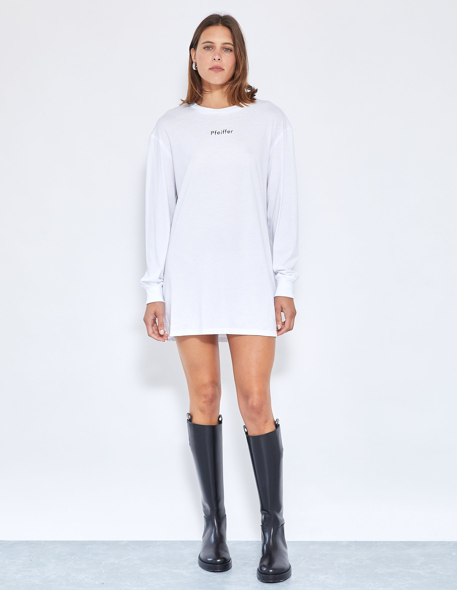 GIA DISCO L/S DRESS | POWDER