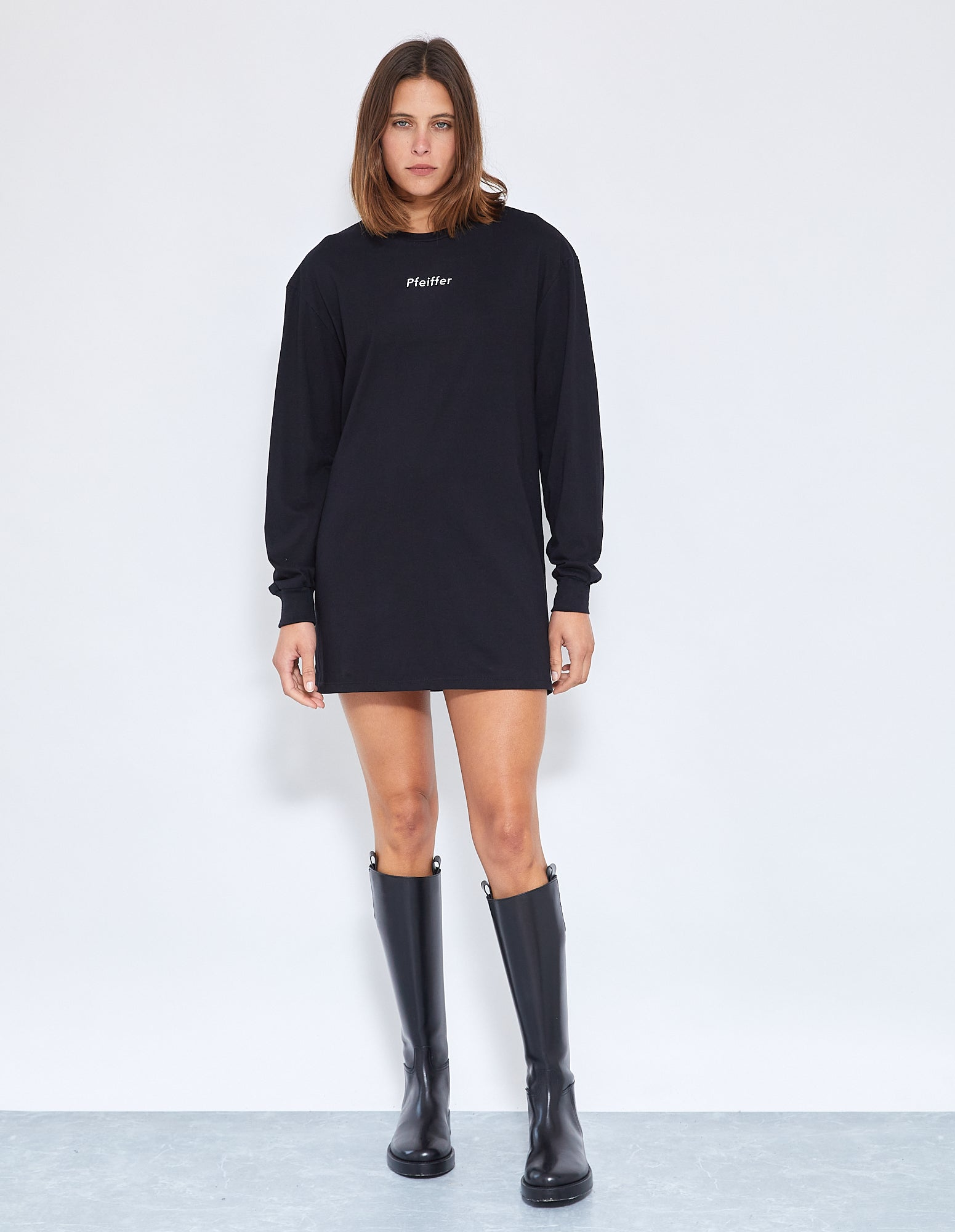 GIA DISCO L/S DRESS | BLACK