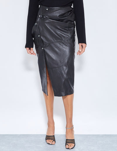 BUICK TWIST SKIRT | BLACK