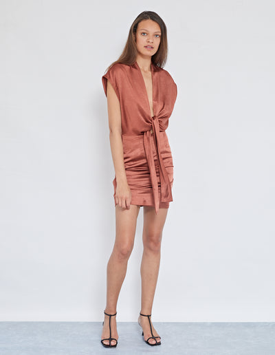 SUKIE TIE FRONT DRESS