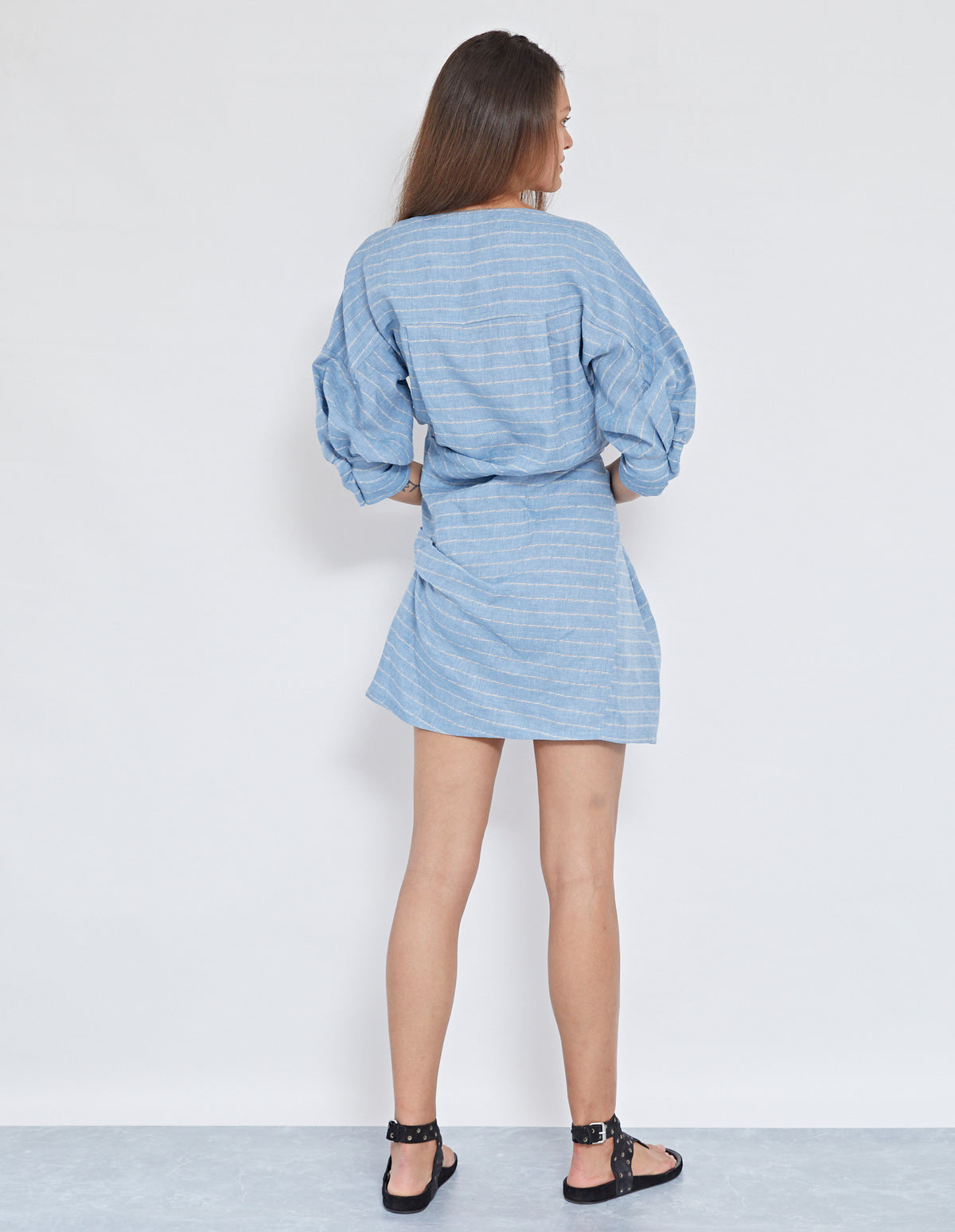 ELVIS TWIST DRESS | CHAMBRAY