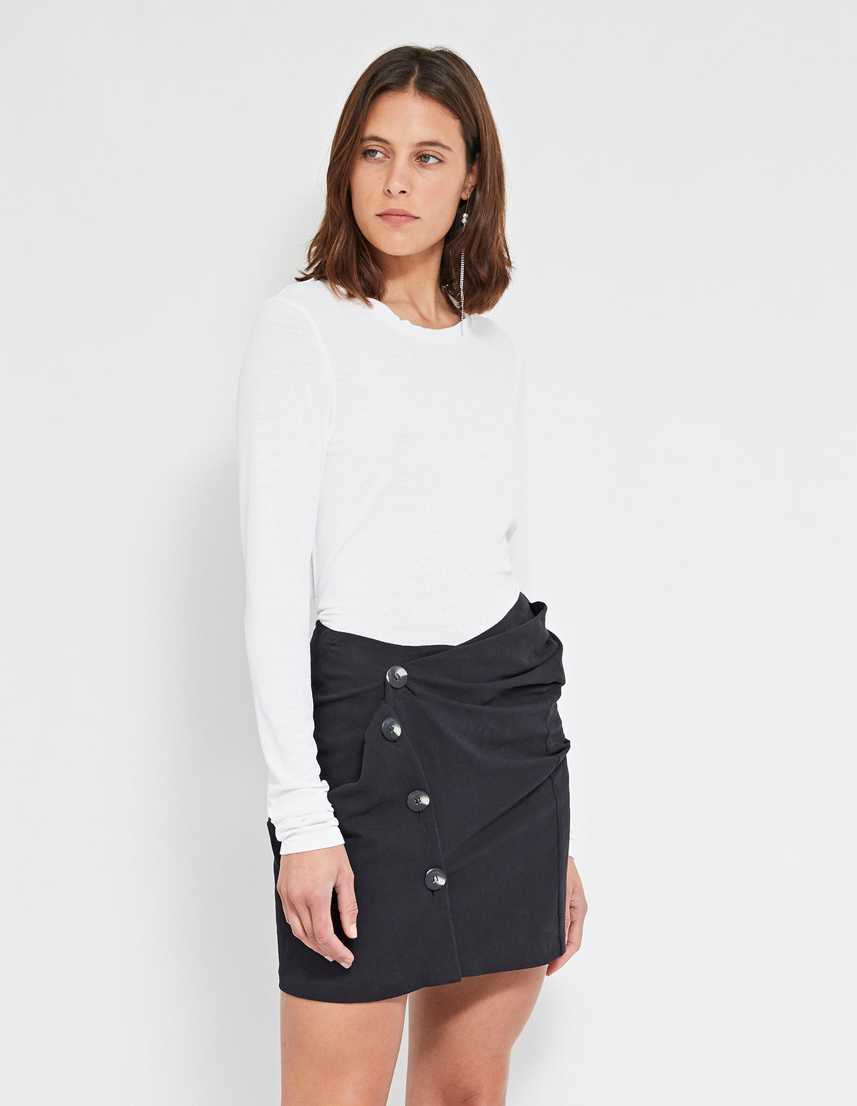 RICARD TWIST SKIRT | BLACK