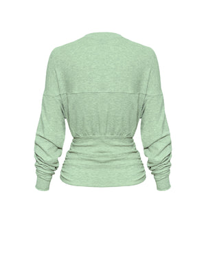 DELTA ROUCHED SWEAT | MINT