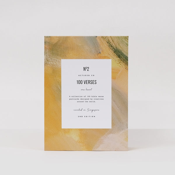 100 Verses One Heart - 2nd Edition (Yellow Canvas)