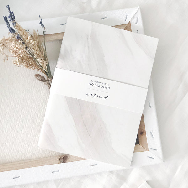 Brush Marble Notebook