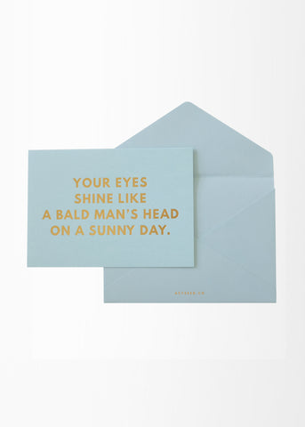 Eyes & Bald Greeting Card