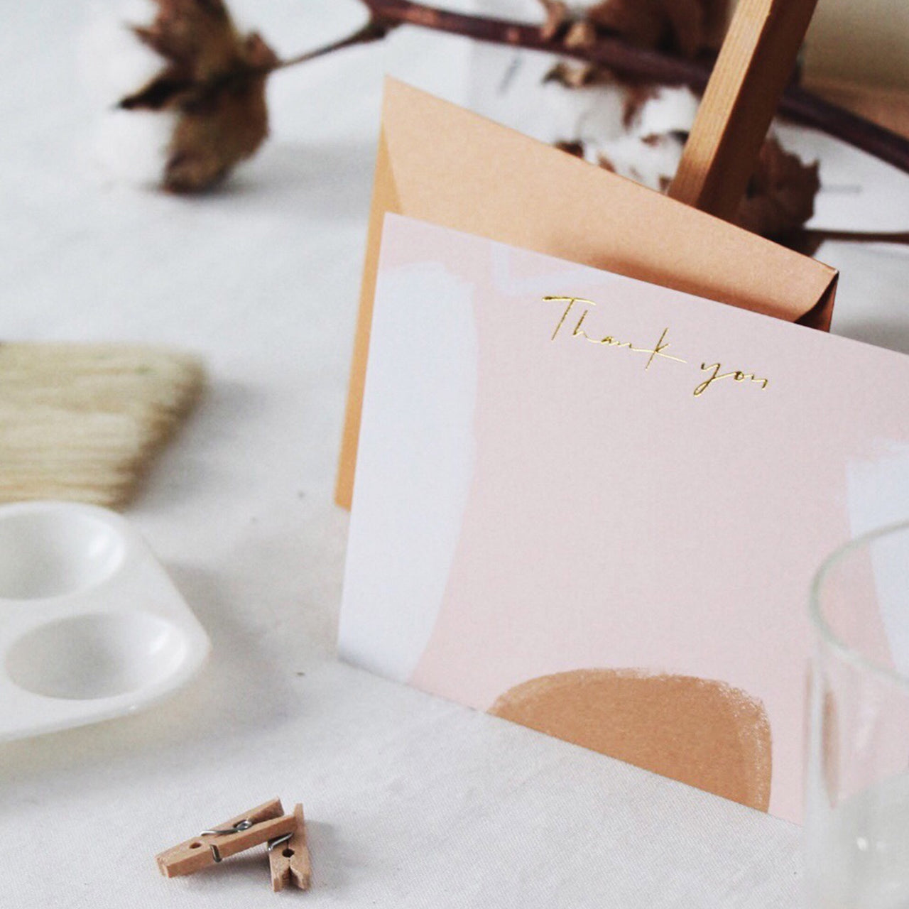 Thank You Card - Camel