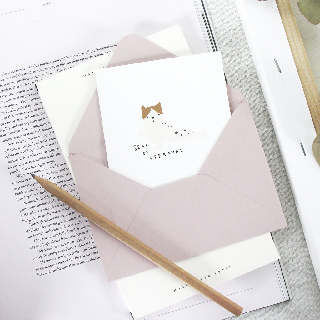 Seal of Approval Cat Greeting Card