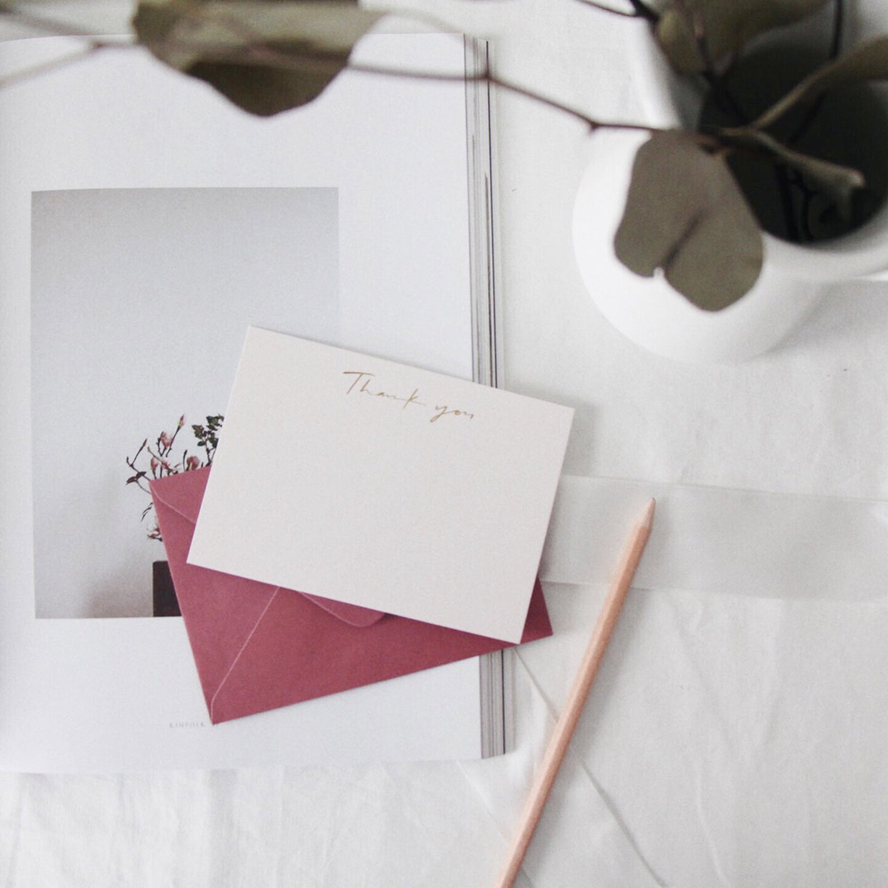 Thank You Card - Maroon