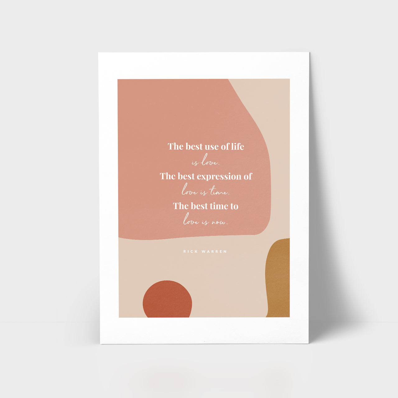 Love Series Print - Best use of life