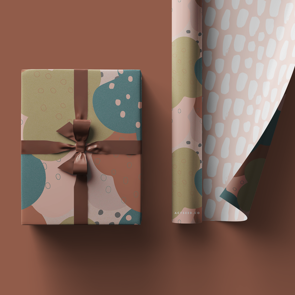Oriental Blush Wrapping Paper Roll, 50x70cm