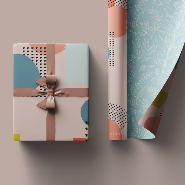 Pastel Garden Wrapping Paper Roll, 50x70cm