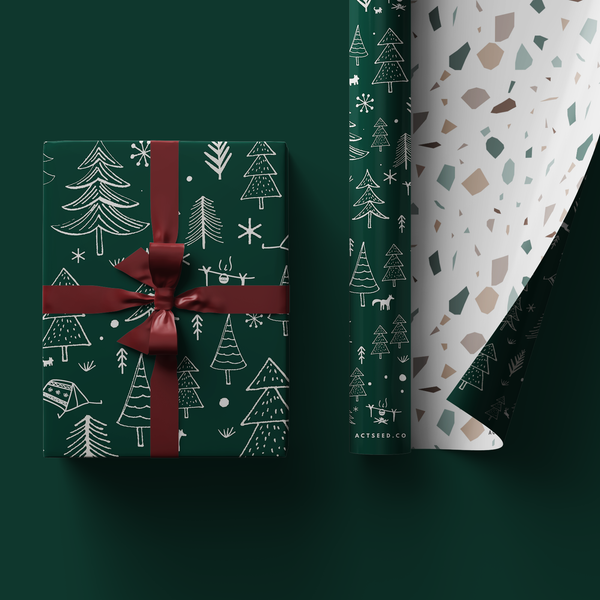 Christmas Quartz Wrapping Paper Roll, 50x70cm