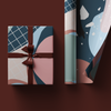 Abstract Navy Wrapping Paper Roll, 50x70cm
