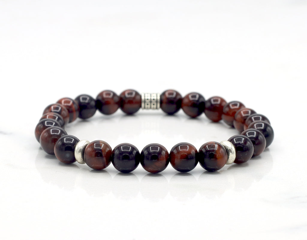 Red Tiger Eye Accented Bracelet
