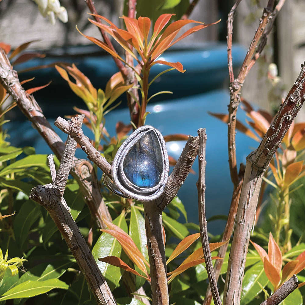 Game On: Labradorite hope ring