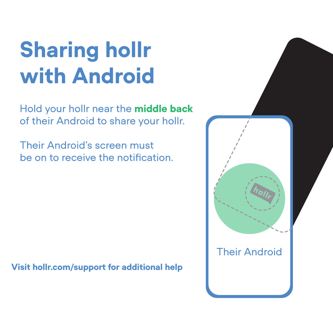 Sharing hollr with Android