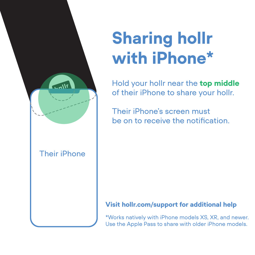 Sharing hollr with iPhone