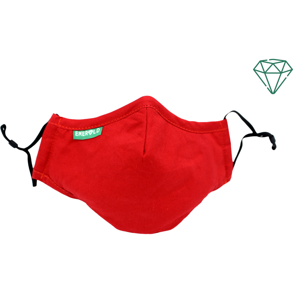 Iris (Red) Reusable Washable Face Mask 95% Filtration | Emerald UK | N95 FFP2 KN95