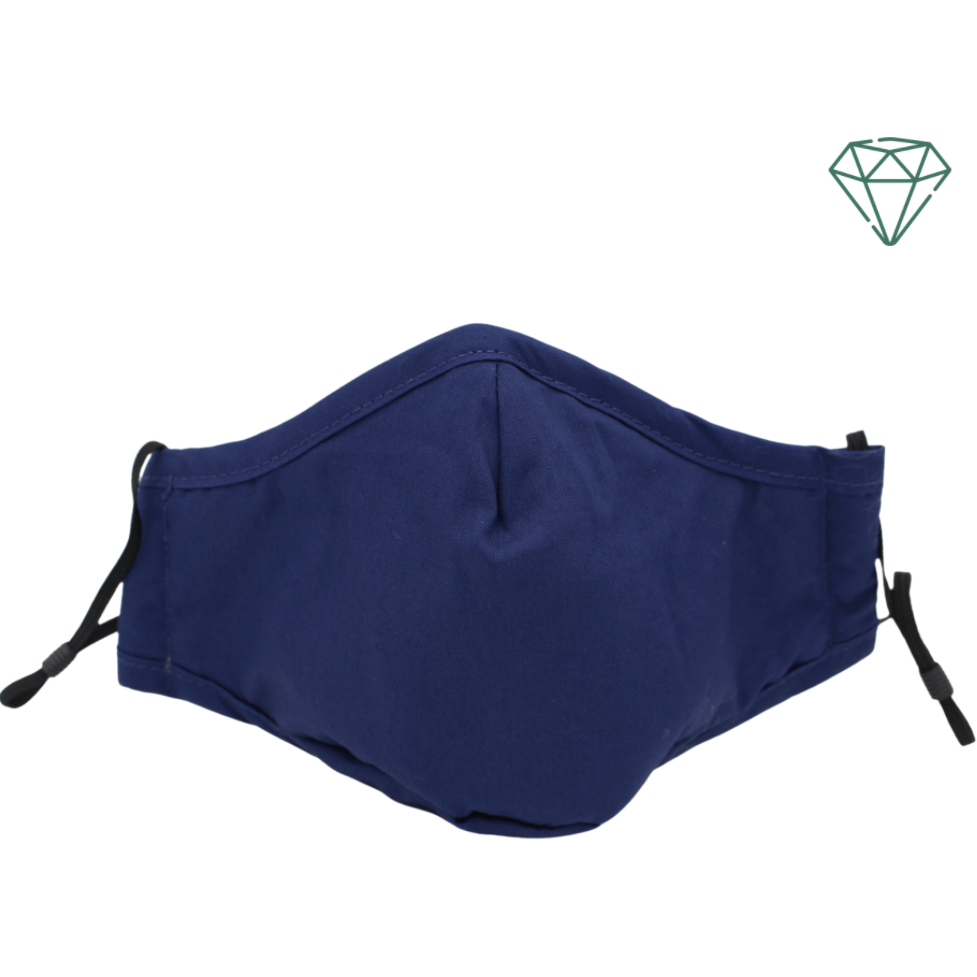 Seal (Navy Blue) - Reusable Washable Face Mask 95% Filtration | Emerald UK | N95 FFP2 KN95