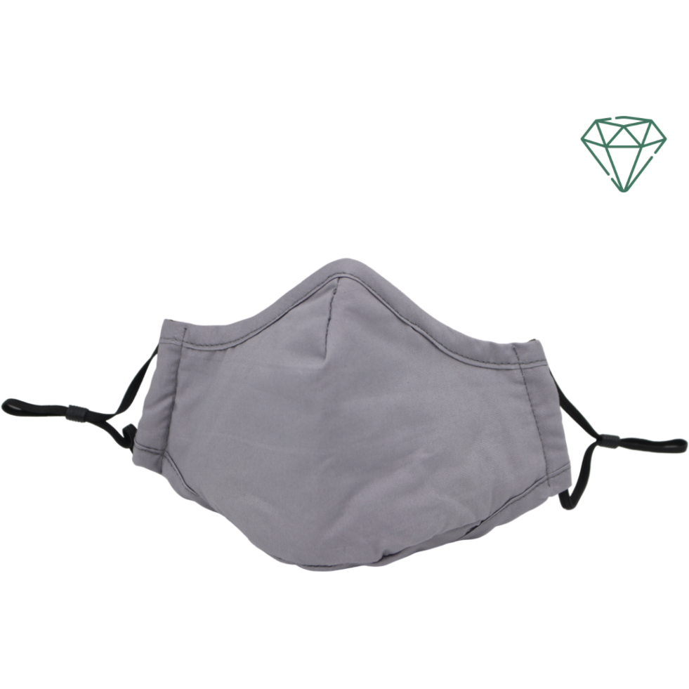 Eagle (Grey) - Reusable Washable Face Mask 95% Filtration | Emerald UK | N95 FFP2 KN95