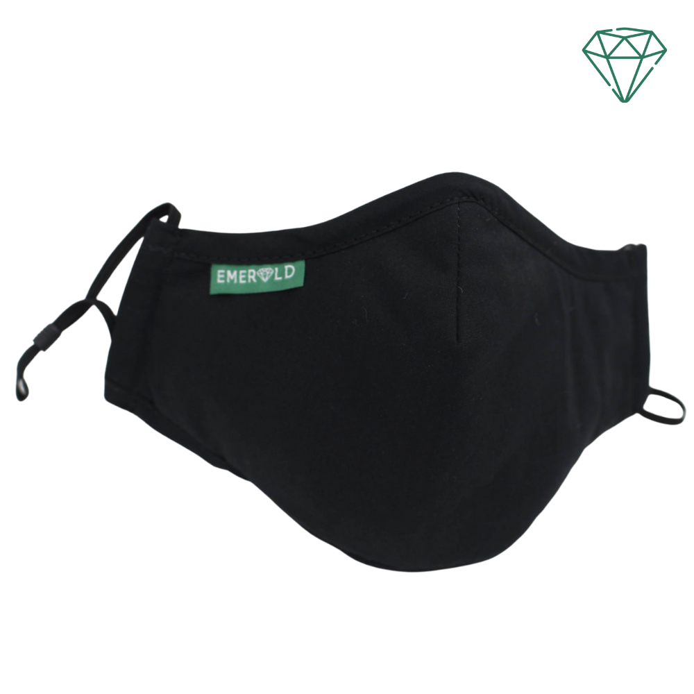Panther (Black) - Reusable Washable Face Mask 95% Filtration | Emerald UK | N95 FFP2 KN95