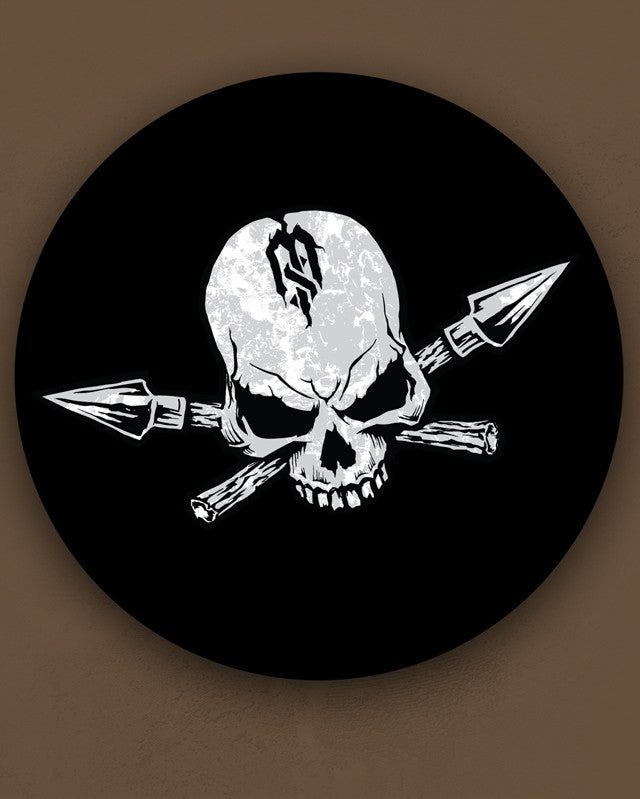 "7"" Skull & Spears Sticker"