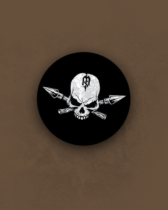 "3.5"" Skull & Spears Sticker"