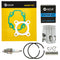 Piston Kit for Yamaha Polaris Can-Am BRP Arctic Cat Scrambler DS50 Cat A13100116000 NICHE MK1001137