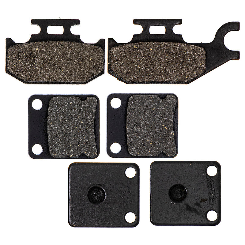 Brake Pad Set for Yamaha Wolverine Kodiak Grizzly 3GD-W0045-01-00 1D9-W0046-00-00 NICHE MK1001499