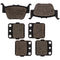 Brake Pad Set for Honda Rancher Foreman 06435-HN8-016 06435-HP7-A01 43120-HA5-305 NICHE MK1001508