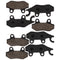 Brake Pad Set for Yamaha Suzuki Kawasaki Can-Am BRP YFZ450XSE YFZ450X YFZ450V YFZ450SP2 NICHE MK1001517