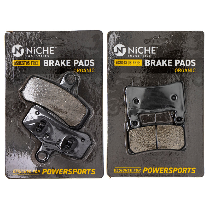 Brake Pad Set for Harley Davidson Softail Heritage Fatboy Breakout 42298-08 41300102 NICHE MK1002652
