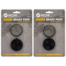 Brake Pad Set for Yamaha Venture SRV Phazer Exciter 89J-25811-00-00 89J-25911-00-00 NICHE MK1297PAD